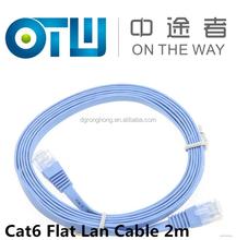 6.5FT 2M CAT6 CAT 6 Flat UTP Ethernet Network Cable RJ45 Patch LAN Cord Blue