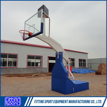 Indoor Electro Hydraulic High Grade FIBA Basketball Stand