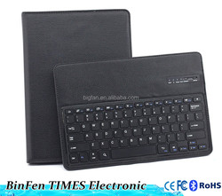 for iPad Pro 12.9inch detachable wireless bluetooth keyboard with folio litchi pu leather case