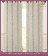 Beige Linen Grommet Window Curtain for living room