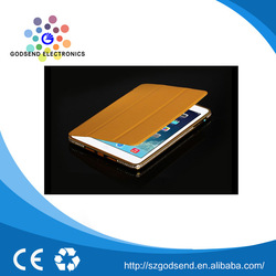 New arrival good quality brown leather flip case for ipad mini