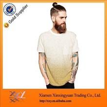 wholesale cheap fashion causal blank gradient color custom t-shirt