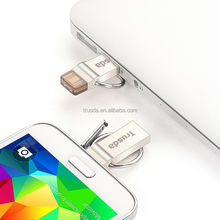 Hot-selling item factory price mini gift thumb otg V90 dual USB flash drive connect with smart phone and laptop with high speed