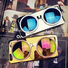 Fashion for iPhone 6 Case 3D Sunglasses Colorful Mirror Effect Electroplating Phone Shell Cover for capa iPhone 6 4.7inch