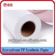 de impresión solvente a prueba de agua pp sintético de papel para los carteles