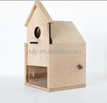 Modern Birdhouse with Sliding Front Door