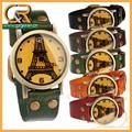 La muestra libre de cuero real mujeres juego regalo de reloj, cuarzo del reloj