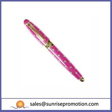 High Quality Thin Pink Ballpoint Metal Pen