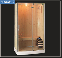 outdoor one person wood steam sauna room