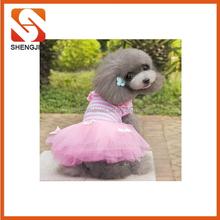 SJ-6645 Wholesale pet wedding dress pet dog dress with lace