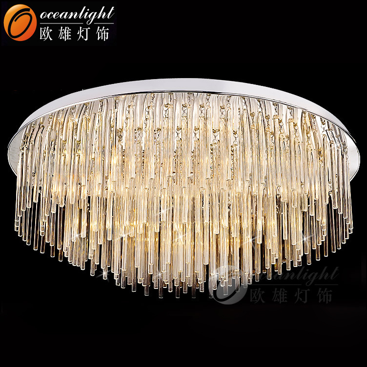 K9 Glass Crystal Chandelier Parts Modern For High Ceilings
