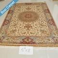 5.5x8ft tradicional design feito à mão nó simples tapete indiano