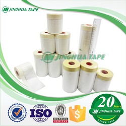 auto apraying or wall painting masking HDPE pretape masking film with tapes