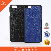 Crocodile Grain Leather Custom Phone Case For iphone 6