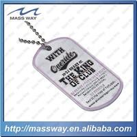 custom engraved enamel necklace men pet ID brass etched dog tag