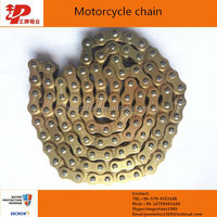 gold color reinforced 428H-128l motorcycle roller chain in venezuela