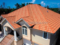 GKR-R18 Red Steel Roof Color Steel Tile Aluminum Shingles