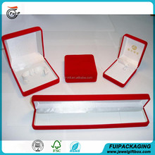 High quality Wholesale Customized velvet packing gift box for sets jewelry