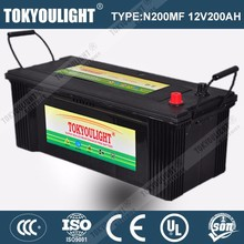 Long life truck battery powerful lead acid deep cycle 12v 200ah battery