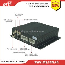 shenzhen DTY 4-ch newly 3g WiFi network mobile dvr with gps tracker ,VR8720 series