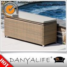 DYST-D100 Danyalife Hotsale Deluxe Synthesis Rattan Wicker Garden Chaise Storage Boxes