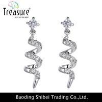 Wholesale girls latest design metal charm earrings