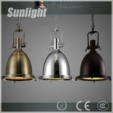Decorative Vintage Industrial Hanging Lamp Chrome or Brass Color Pendant Light/industria Droplight/Chandelier