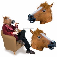 Trade Assurance Funny Full Head Latex Animal Horse Head Mask For Masquerade Party Cosplay