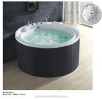 round freestanding white massage bathtub Acrylic pink spa pool whirlpool Air jet for bubble bath Ozone spa pool