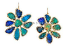 Top Quality Diamond Cut Ethiopian Opal earrings jewelry