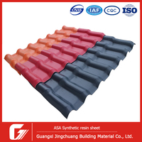 Waterproof performance corrugated spanish pvc plastic synthetic resin roof tile