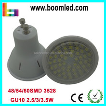230v glass/plastic led spot light gu10 3w