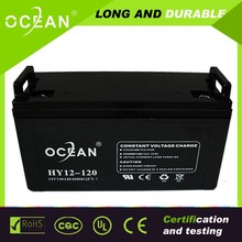 12V 120AH rechargeable deep cycle battery solar, vrla battery manufucturer