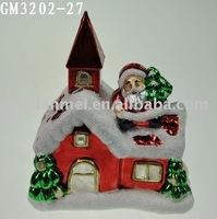 Wholesale LED christmas snow house gift