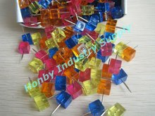 Fab 18mm Colorful Square Thumb Tack Push Pin for Marking Location