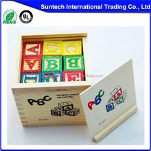 Toys & Hobbies Children Wooden Blocks Box,Popular Kids Wooden Blocks Set,Colorful Child Alphabet Blocks