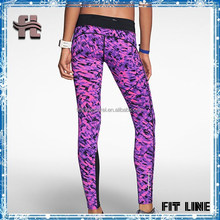 Gym sport wear fitness clothing for laides, custom high quality long tight gym wear