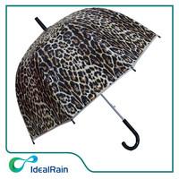 dome shape poe material leopard grain umbrella