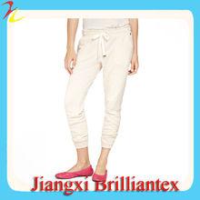 francés de la mujer de rizo de algodón con cordón cordón del pantalón
