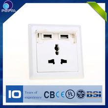 2014 new design useful 5V usb wall socket