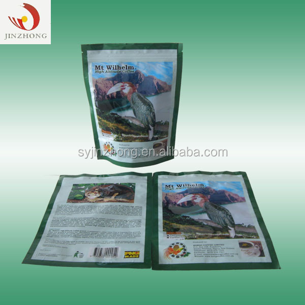 Personalizzato Commestibile Riciclabile Stampa Sacchetti di Imballaggio di Plastica Chicchi di Caffè Con Valvola