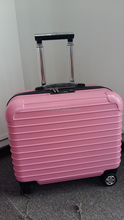 18inches Lady's ABS Aluminum Trolley Pink Color Laptop Trolley Case