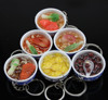 Creative lifelike mini PVC food model for artificial keyring,fridge magnet/Yiwu sanqi craft factory