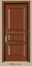 ไม้ที่เป็นของแข็งการออกแบบประตูหลักkfw-114
