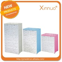 Floral Plastic Storage bedroom plastic drawer with wheels baby clothing plastic storage cabinet