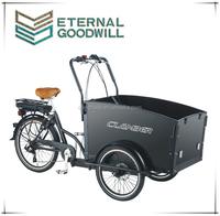 2015 popular hot sale 6 speeds three wheel electric Cargo Bike/Electric tricycle model UB9031E-6S