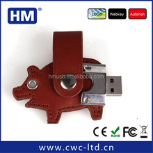 wholesale animal shape leather bulk cheap usb flash drive 500gb