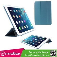 For iPad Air,Tri-fold PU Leather Smart Cover and Companion PC Back Case for iPad Air