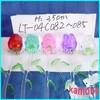 Long stem glass rose for the wedding souvenirs