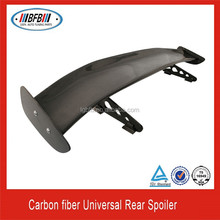 "UNIVERSAL 57"" 3D CARBON FIBER CF REAR GT TRUNK SPOILER WING ADJUSTABLE DECK"